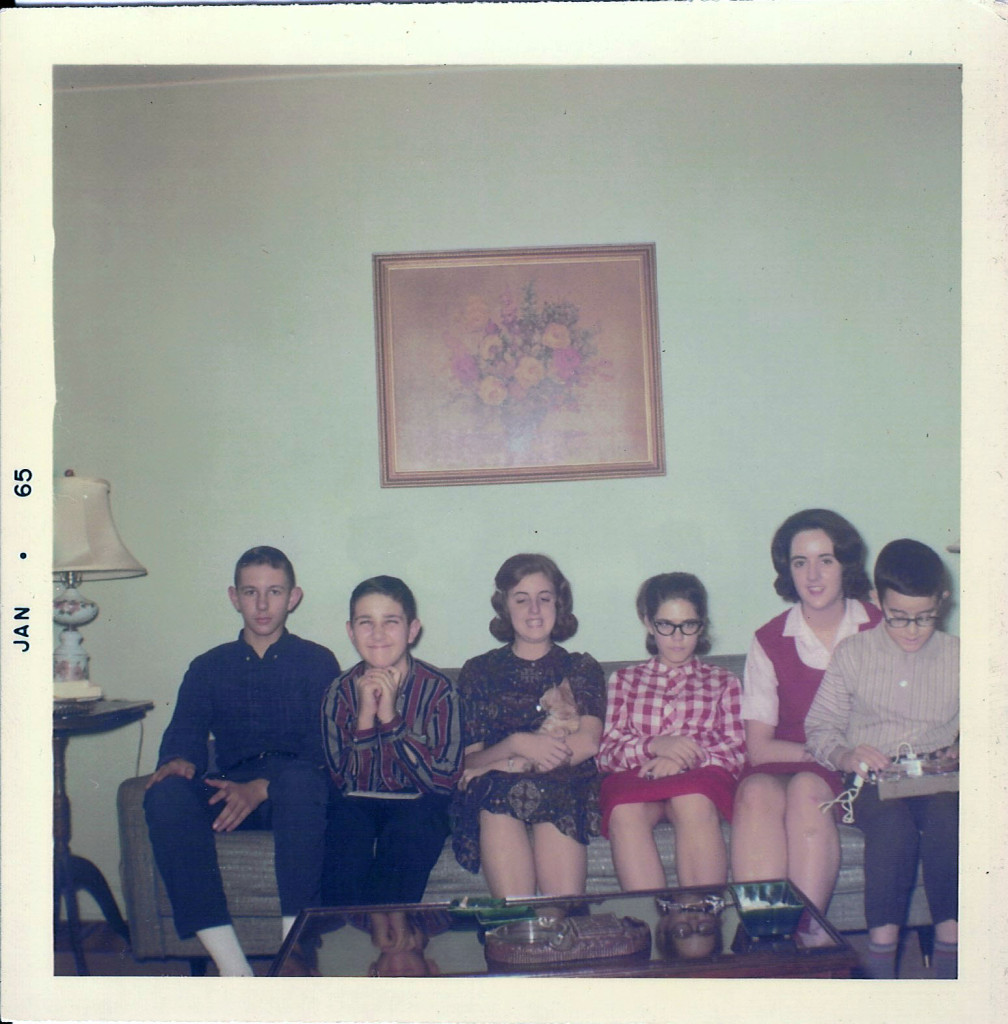 This is actually from Christmas 1965, but it's the only one I have showing most of the cousins who grew up in Crestwood. From left: Bert and Jim Harwell, Anne Carter, Jane Schmick, Linda, and me. I don't know where Johnny Schmick was. Maybe taking the picture.