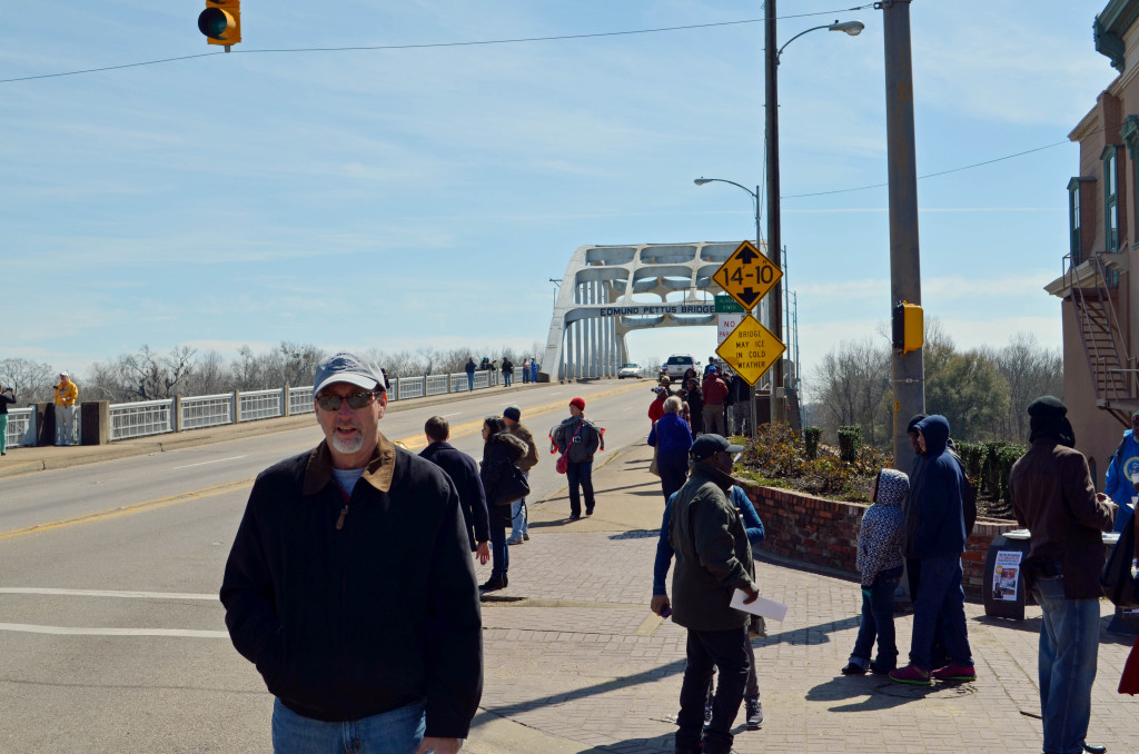 Seemed only right for my friend Jim Stubbs to be pictured in front of Edmund Pettus Bridge.